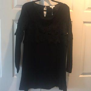 BLACK SHEATH MINI-DRESS